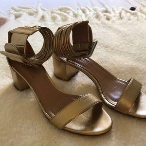 Authentic Aquazzura strap sandals  block heels